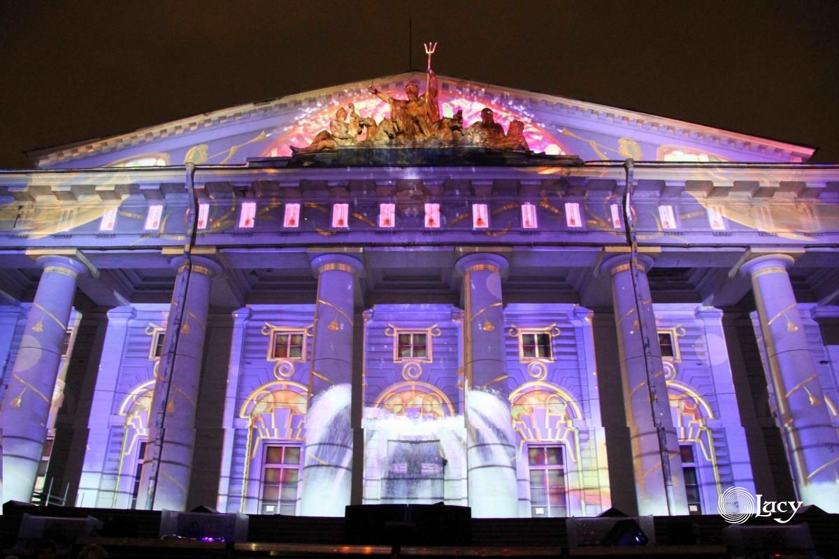 Лазерное шоу на фестивале Рождественская звезда в СПб
