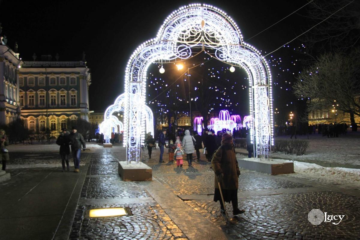 Вечерний Санкт-Петербург в январе 2018