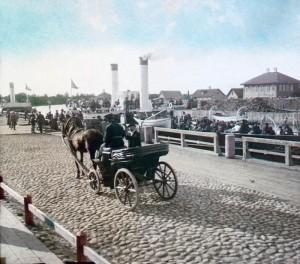 цветное фото 1896 года-Петербург Порт