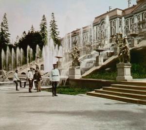 цветное фото 1896 года-Петергоф